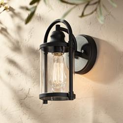 "Avani 10 1/4"" High Black Outdoor Wall Light"