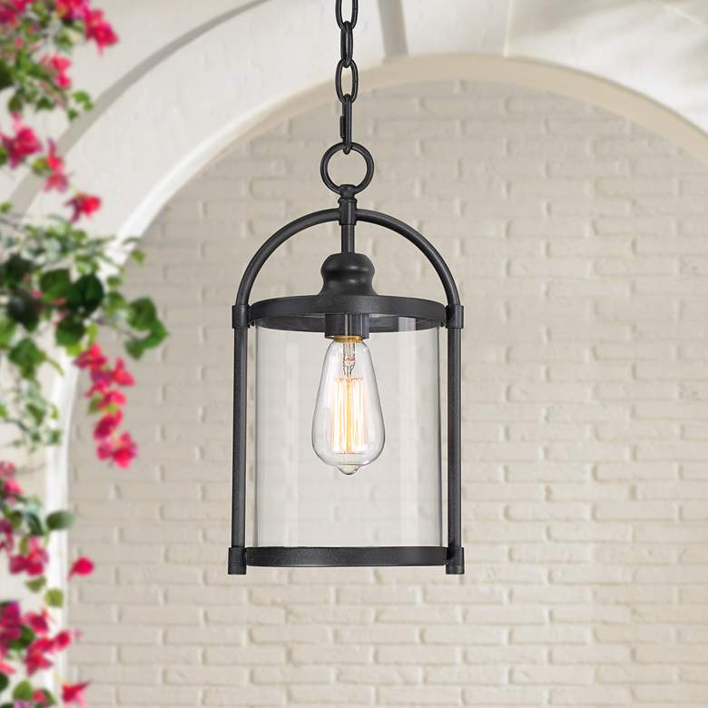 "Avani 15"" High Black Outdoor Hanging Light"