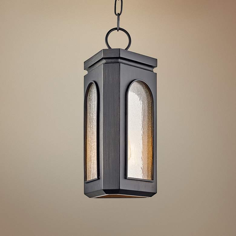 "Alton 16"" High Graphite Outdoor Hanging Light"
