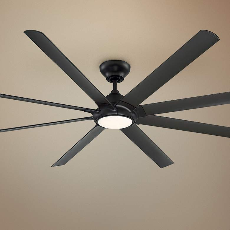 "96"" Modern Forms Hydra Bronze LED Wet Ceiling Fan"