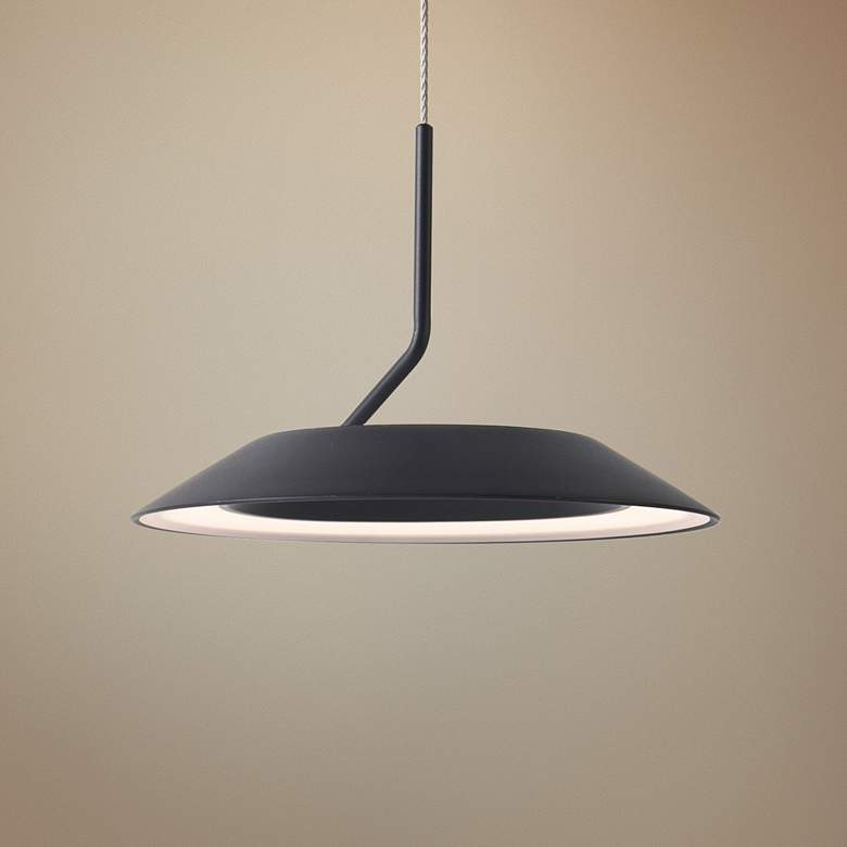 "Koncept Royyo 6 1/2"" Wide Matte Black Mini Pendant"
