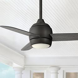 "36"" Airbourne Oil Rubbed Bronze Damp Rated LED Ceiling Fan"