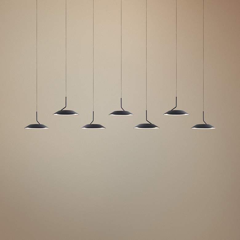 "Koncept Royyo 44"" Wide Matte Black 7-Light Linear Pendant"