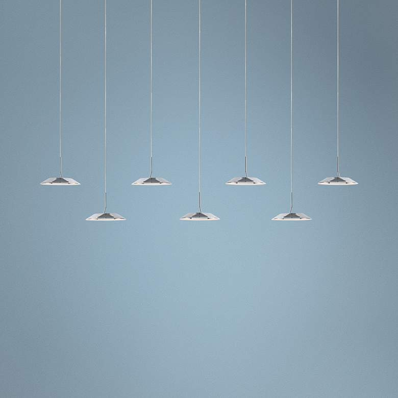 "Koncept Royyo 44""W Polished Nickel 7-Light Linear Pendant"