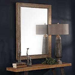 "Uttermost Walt Distressed Natural 36"" x 48"" Wall Mirror"