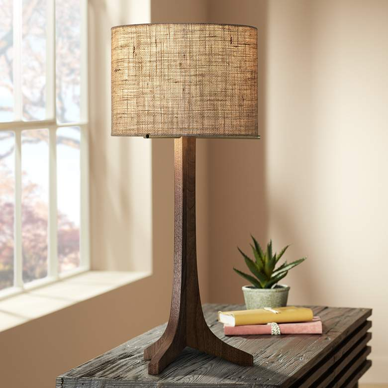 Cerno Nauta Stained Walnut LED Table Lamp with