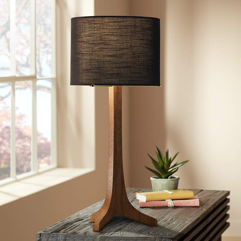 Cerno Nauta Walnut LED Table Lamp with Black