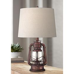 Murphy Red Bronze Miner Lantern Table Lamp