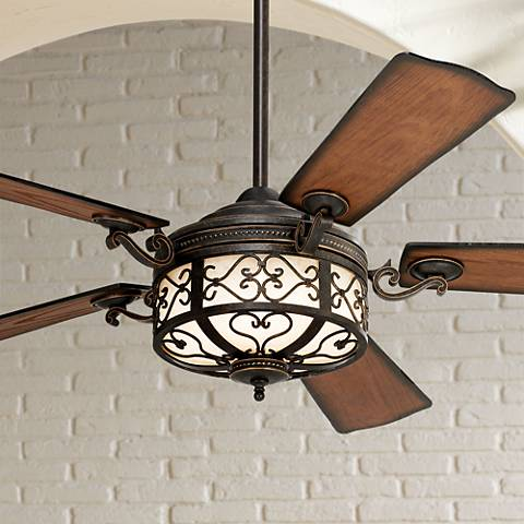 54 Quot Hermitage Golden Forged Outdoor Ceiling Fan 69276