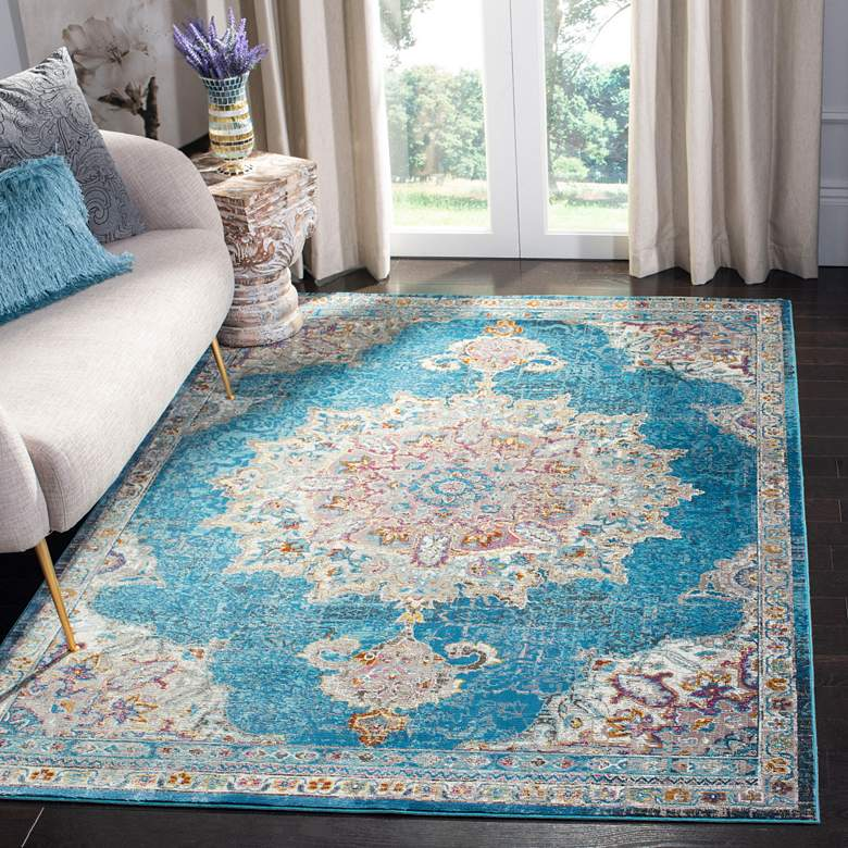 Safavieh ARA103N Blue and Ivory Area Rug