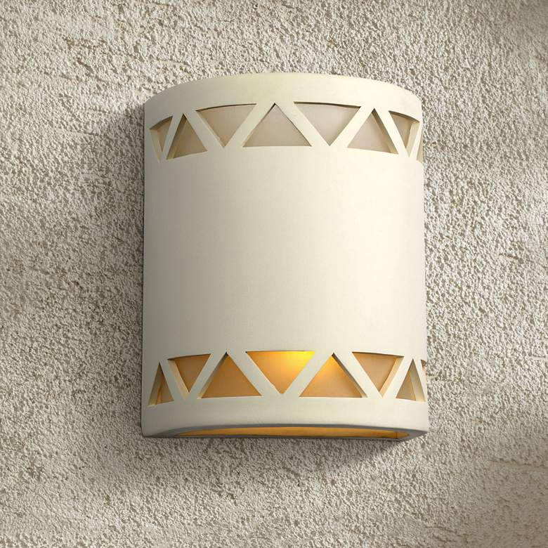 "Jaken 10""H Paintable White Bisque Ceramic Outdoor Wall"