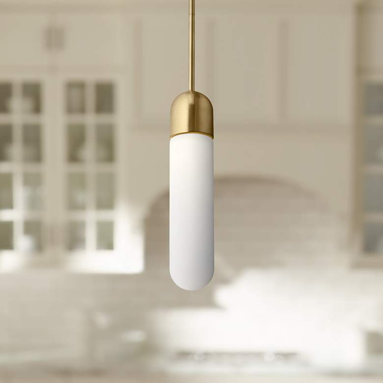 "Elan Pills 3 1/4"" Wide Champagne Gold LED Mini Pendant"