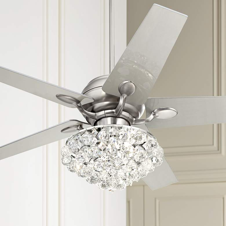 "52"" Casa Optima Crystal LED Ceiling Fan w/Wall"