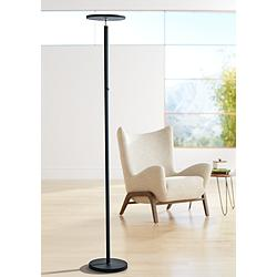 Lite Source Monet Black LED Torchiere Floor Lamp