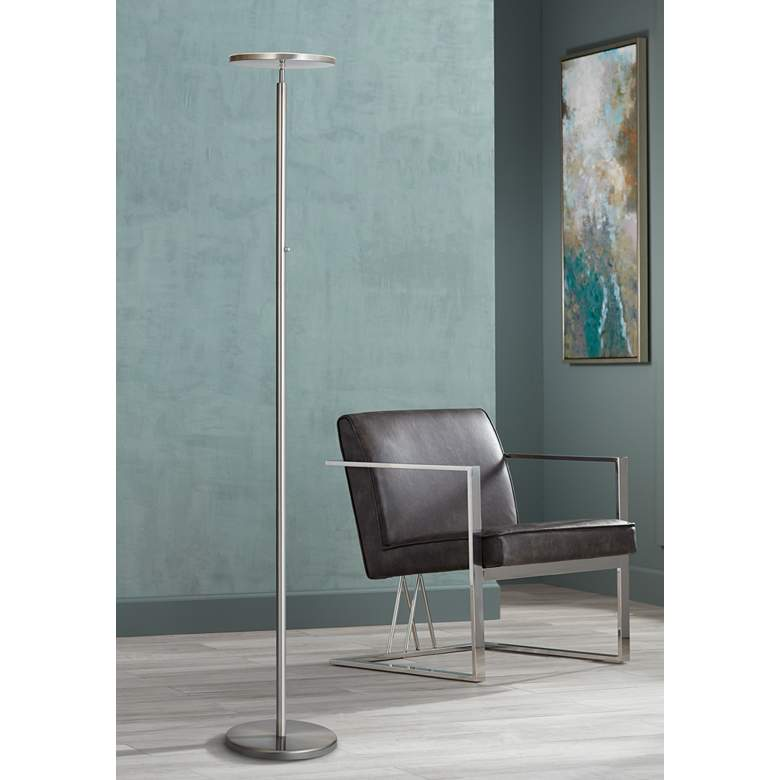 Lite Source Monet Brushed Nickel LED Torchiere Floor