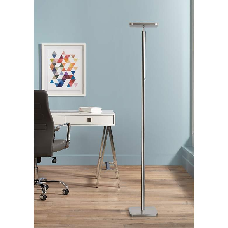 Lite Source Hector Brushed Nickel LED Torchiere Floor Lamp