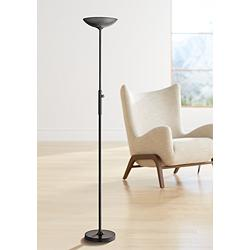 Lite Source Lemuel II Black LED Torchiere Floor Lamp