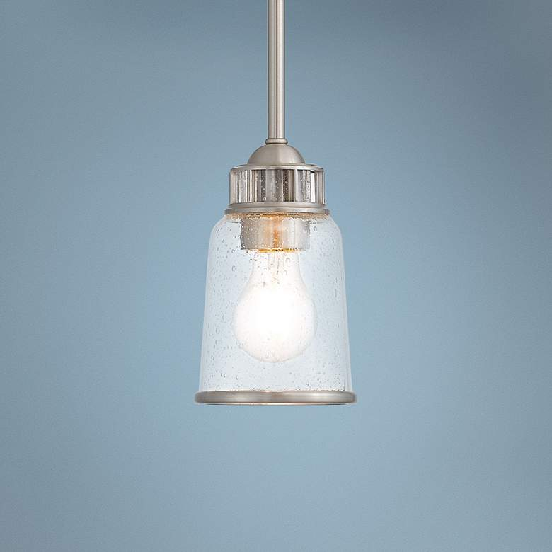 "Lawrenceville 5"" Wide Brushed Nickel Mini Pendant"