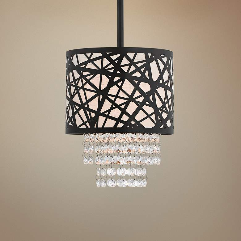 "Allendale 8"" Wide Bronze Crystal Mini Pendant"