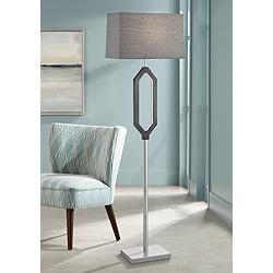 Desmond Charcoal Gray Floor Lamp w/ LED Night Light