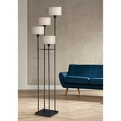 Lite Source Goldman Matte Black Metal 4-Light Floor Lamp