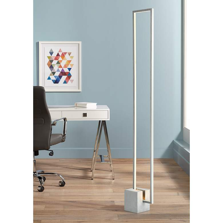 Lite Source Fantica Gray Metal LED Floor Lamp