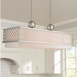 "Arabesque 39 3/4"" Wide Nickel Kitchen Island Light Pendant"