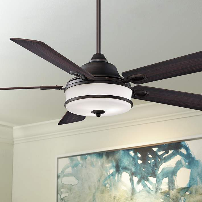 Dark Bronze Led Ceiling Fan