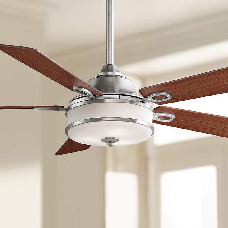 "52"" Fanimation Stafford Brushed Nickel LED Ceiling Fan"