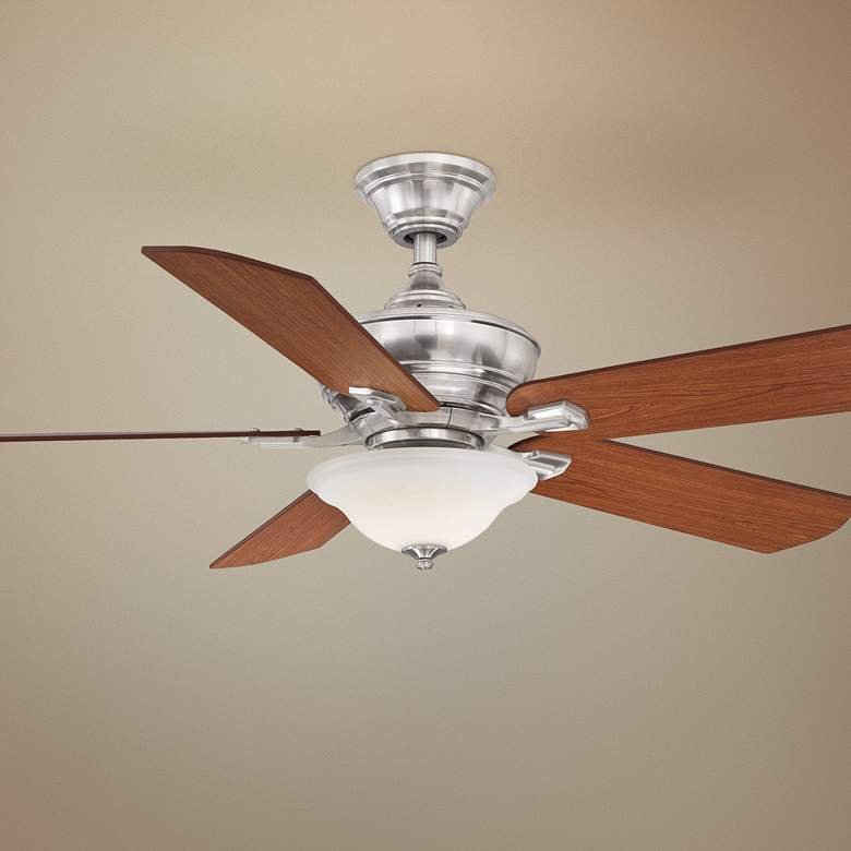 "52"" Fanimation Camhaven V2 Brushed Nickel LED Ceiling Fan"