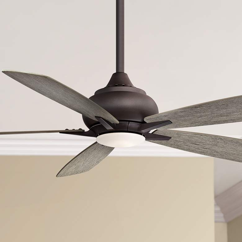 "52"" Fanimation Doren Matte Greige LED Ceiling Fan"