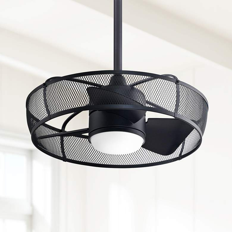 "22"" Fanimation Henry Black LED Ceiling Fan"