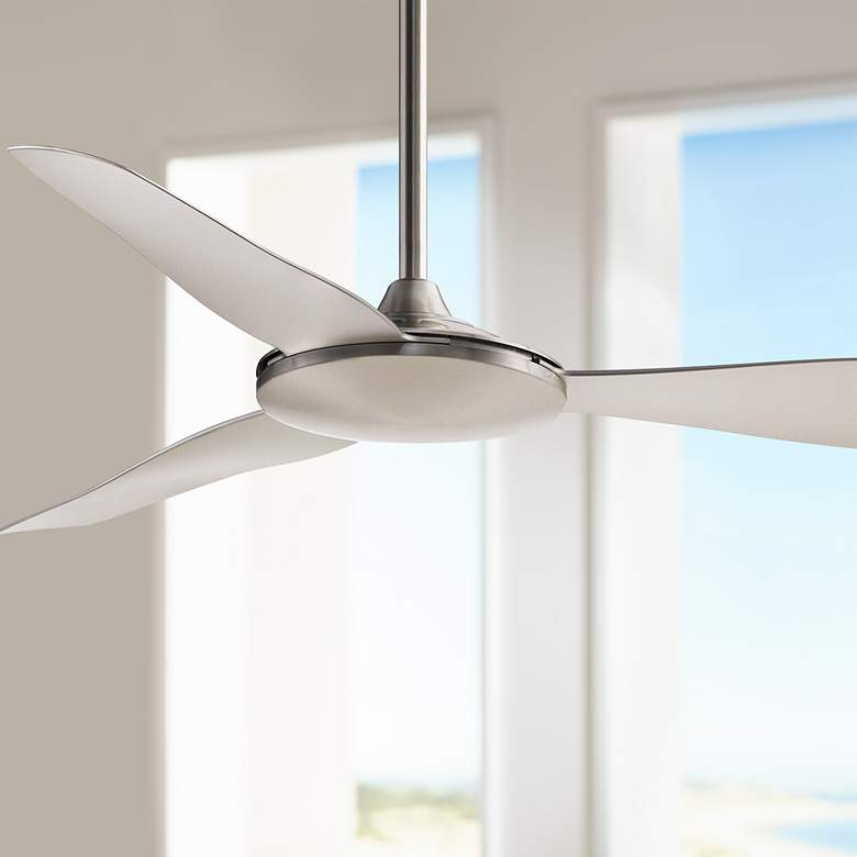 "52"" Fanimation Glideaire Brushed Nickel Ceiling Fan"