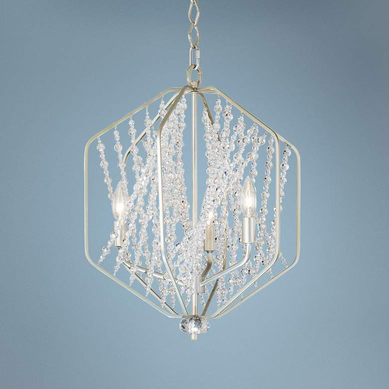 "Varaluz Chelsea 17"" Wide Silverado and Crystal Pendant"