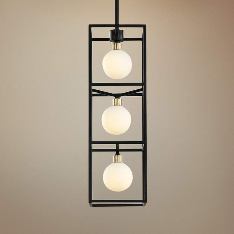 "Varaluz Plaza 6"" Wide Carbon 3-Light LED Foyer Mini Pendant"