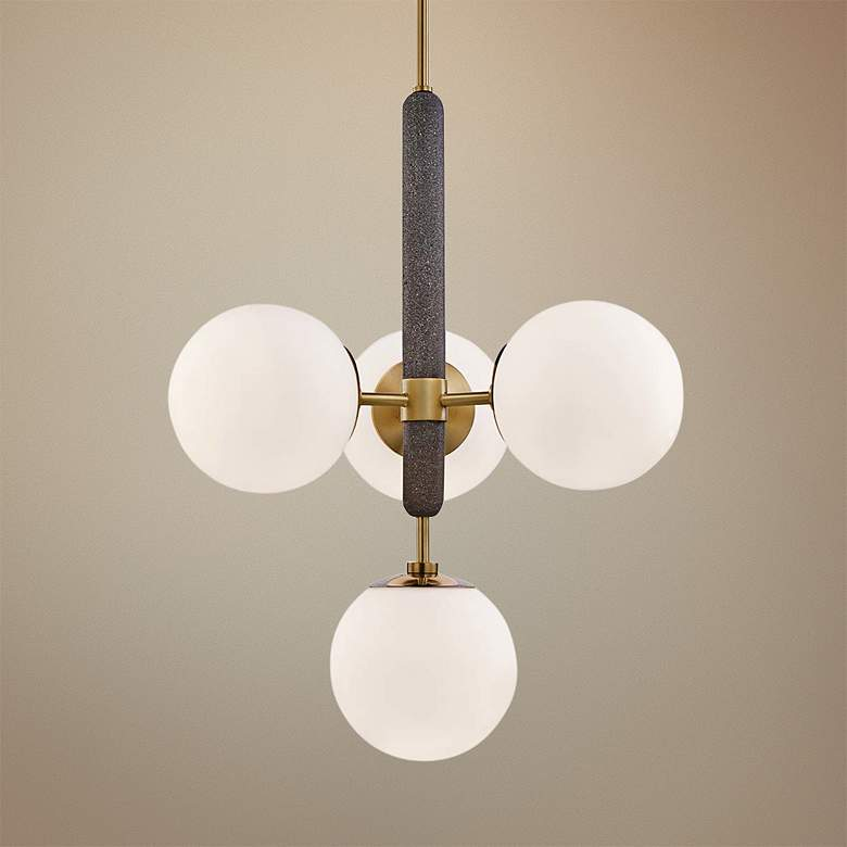 "Mitzi Brielle 20 1/2"" Wide Aged Brass 4-Light"