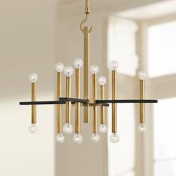 "Mitzi Colette 28 3/4"" Wide Aged Brass 16-Light Chandelier"