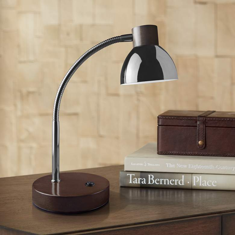 Lite Source Eryx Gunmetal Gooseneck LED Desk Lamp