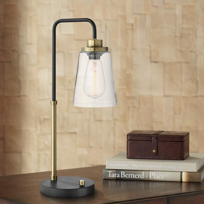 Lite Source Colinton Antique Brass Metal Desk Lamp