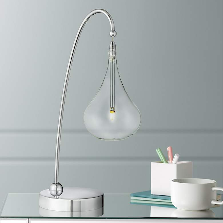 Lite Source Blummer Droplet Glass LED Desk Lamp