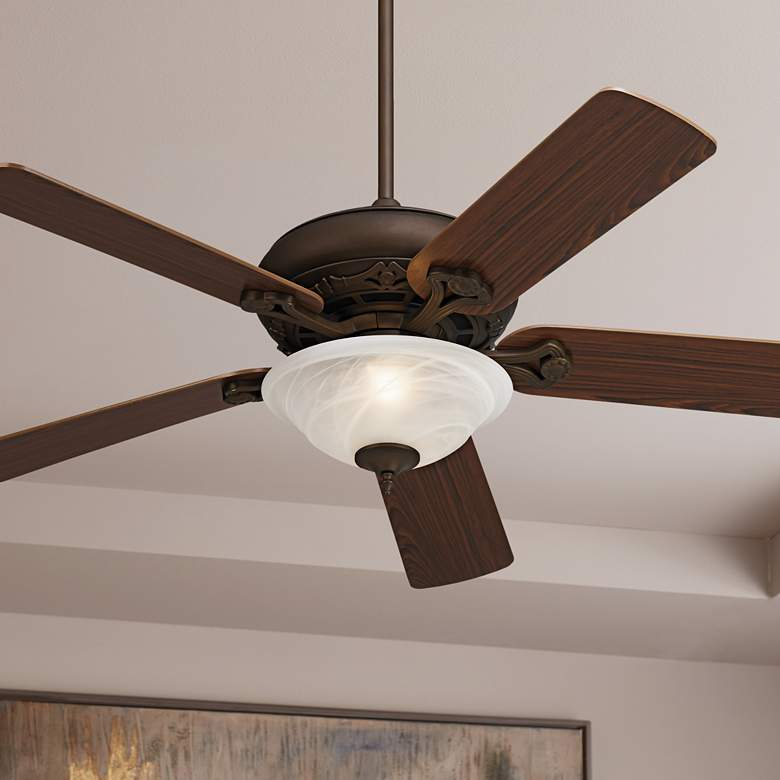 "52"" Casa Vieja® Trilogy Bronze LED Ceiling Fan"