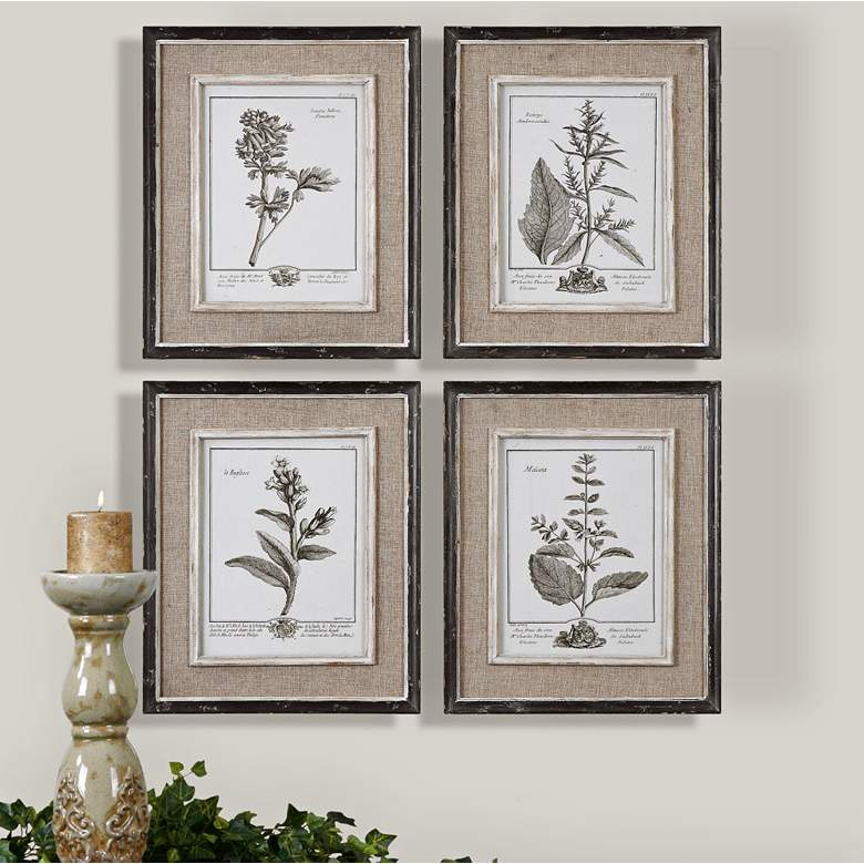 "Casual Gray Study 17 1/2"" High 4-Piece Framed"