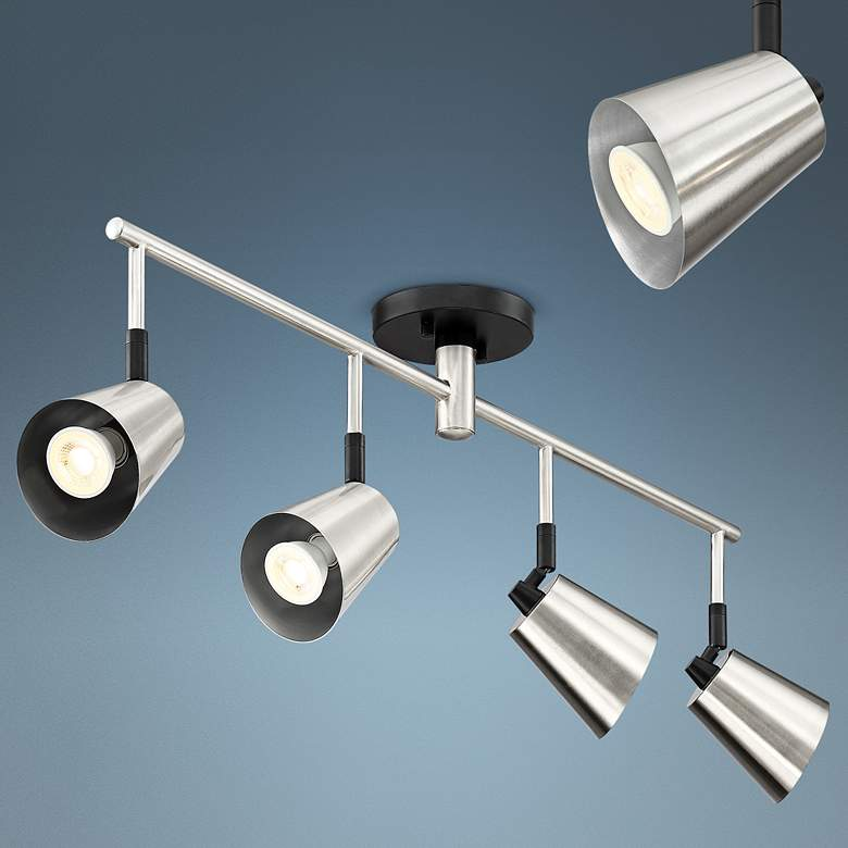 Pro Track Haliwell 4-Light Brushed Nickel LED Track