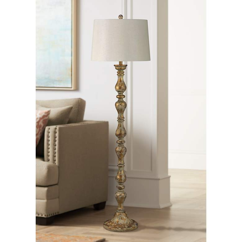 Forty West Virginia Gold and Cream Column Floor