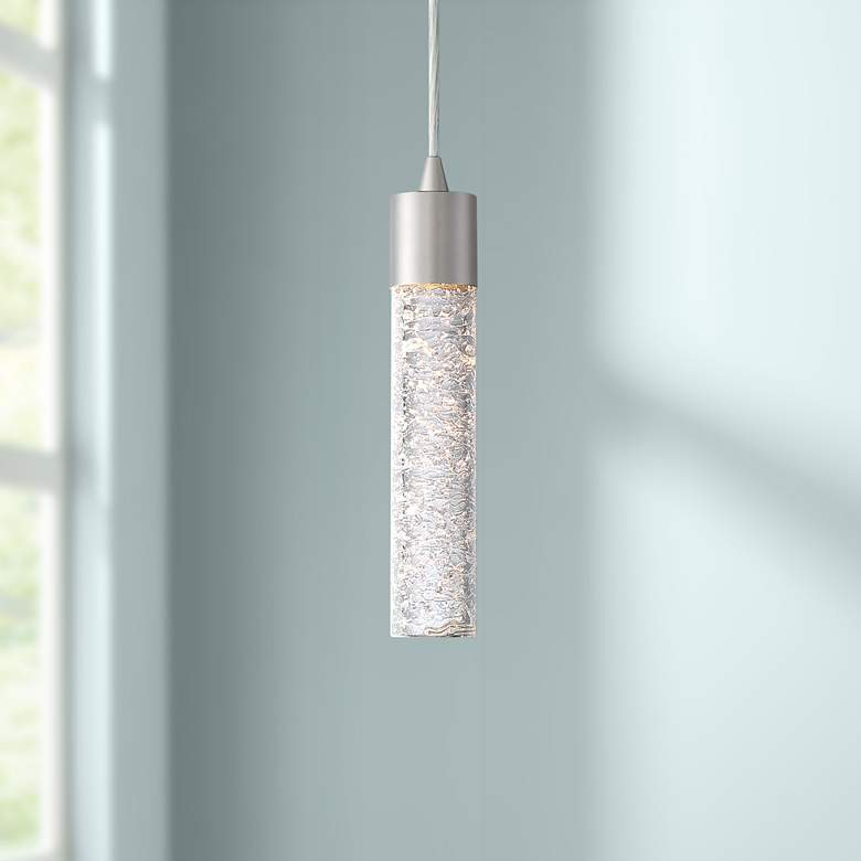 "Shimmer 2"" Wide Brushed Nickel and Glass LED"