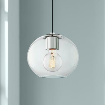 "Mitzi Margot 8 1/4"" Wide Polished Nickel Mini Pendant"