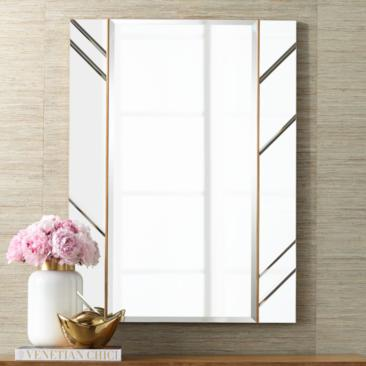 "Possini Euro Tayah 30"" x 40"" Copper Accent Wall Mirror"