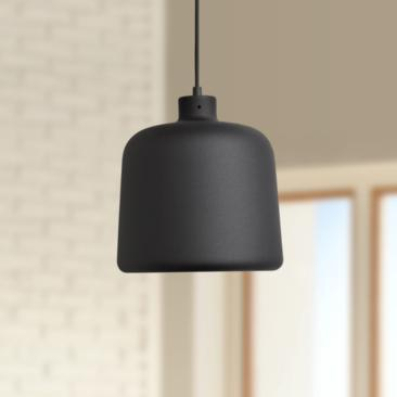 "Nostalgia 10"" Wide Matte Black Metal LED Mini Pendant"