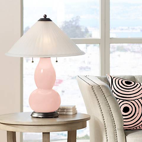 Rose Pink Fulton Table Lamp with Fluted Glass Shade