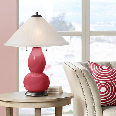 Samba Fulton Table Lamp with Fluted Glass Shade